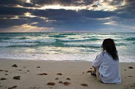 waiting by beach